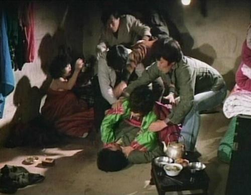A couple of villagers are caught in flagrante delictu