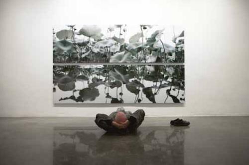 Yongho Kim: Pian 2011-005, 197X57cm, Digital Print, 2011 Pian 2011-006, 197X57cm, Digital Print, 2011