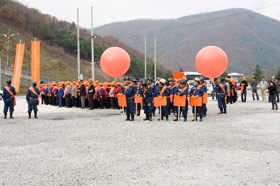 Young In Hong: Miners' Orange. Video Projection, 2009