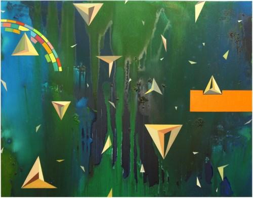 Kyung-hwa Shon: Duality (2012) Oil on canvas, 110 x 140cm