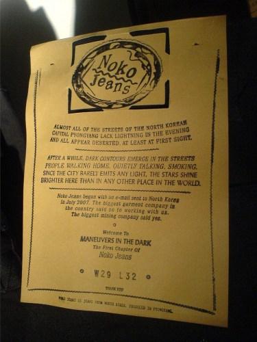 NoKo Jeans Label