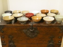 Tea bowls by both artists