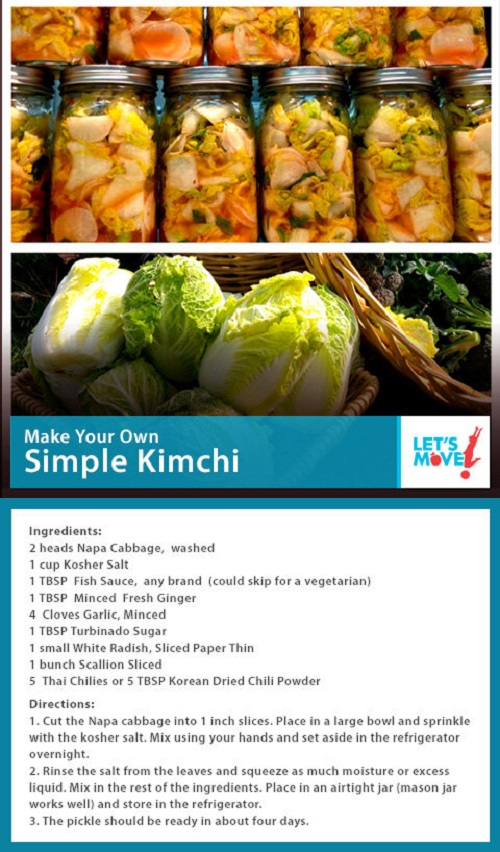 Michele Obama kimchi recipe