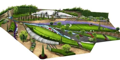 An impression of Hwang Ji-hae's Lugworm's Path garden