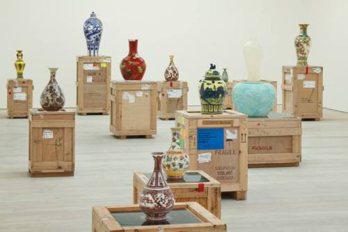 Installation view of some of Meekyoung Shin's work inside the Museum