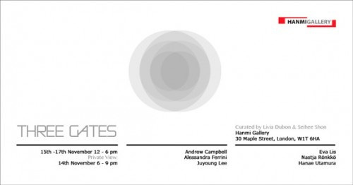 Post image for Three Gates – a brief group exhibition at Hanmi Gallery