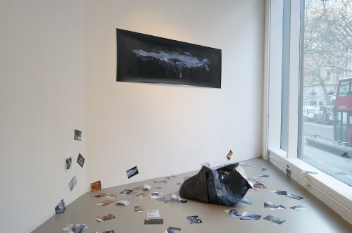 Taehyung Kim: Black recycled garbage bag (2012)
