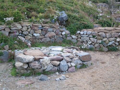 The stone altar on Cheonwangbong where the Sanshinje is held