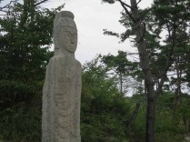 """One of the """"folksy"""" buddha statues to be found everywhere at Unjusa"""