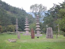 Three of the countless pagodas at Unjusa