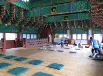 The meditation area upstairs in the Donguijeon