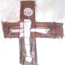 Crucifixion, by Elias Corbishley, aged 5