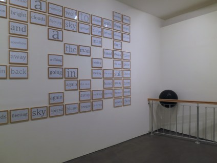 Kim Minae: 14 degrees off (2013) and (on the wall) Self Drawing Image (2013)