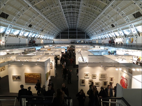 A view of the main exhibition hall at the Business Design Centre