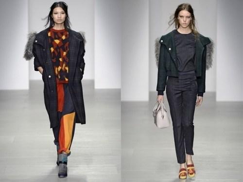 Fur detailing on Eudon Choi's AW14 tailoring
