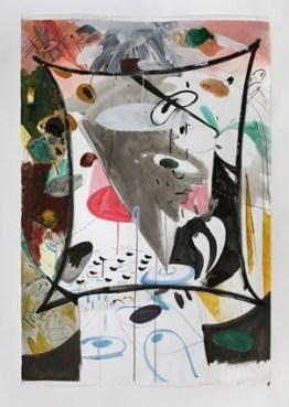 Jiwon Jung, Gaze, 148x97cm, Mixed media on paper, 2013