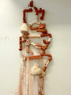 Suhyun Shin, Fountain 2, 2m (high), clay mixed, tube, 2013