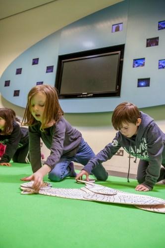 Children taking part in an animation workshop
