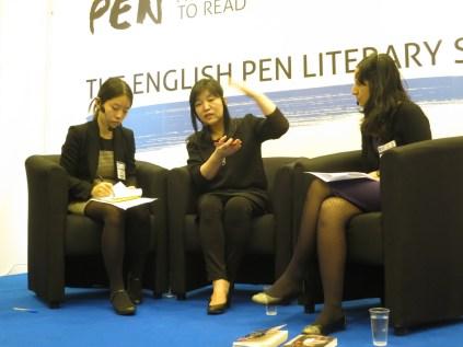LBF - Shin Kyung-sook with interpreter Cho Yuna