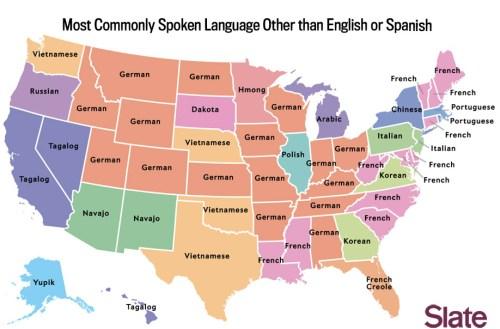 Slate language map