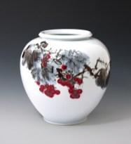 White Porcelain Vase. Hang Taek Lim