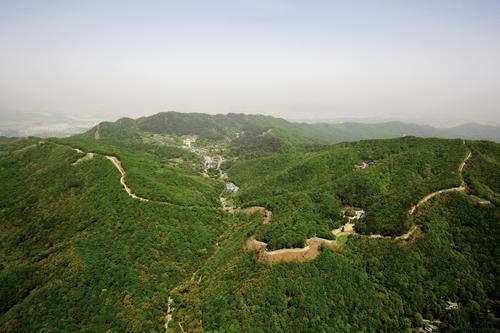 The walls of Namhansanseong fortress