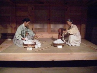 At the Mun Ik-jeom cotton museum in Sancheong-gun