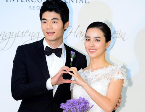Ki Sung-yueng and Han Hye-jin