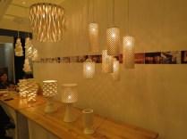 Hand-made ceramic lighting at the NJ Lighting stall