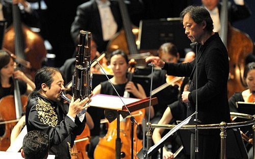 Chung Myung-whun with Wu Wei at the Albert Hall