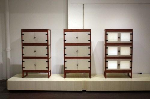 Elegant cabinets made by  Park Myeong-bae and Han Kyung-hwa