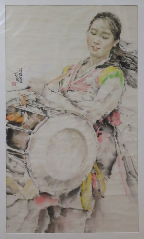 Chosonhwa painting at the DPRK Embassy