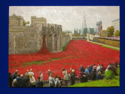 Hong Song-il: the poppy installation at the Tower of London