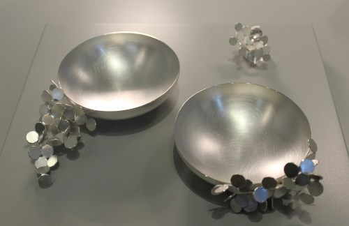 Two of Misun Won's silver bowls