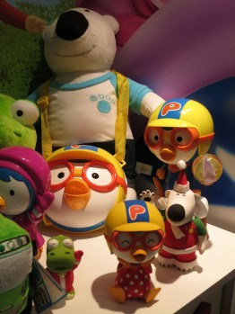 Children's animated characters on display at KBEE