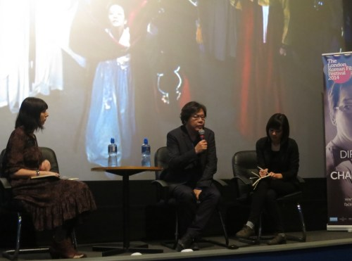 Park Chan-kyong at the screening of Manshin on 10 November 2014