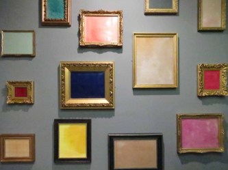 Shin Meekyoung: Painting Series (2015) (Soap, colour, wooden frames) at HADA Contemporary, 5 February 2015