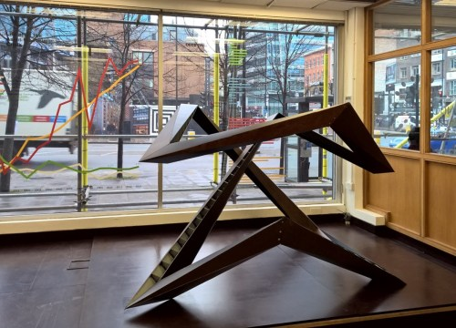 JOHO Architecture: model for Endless Triangle, 2014, on display at The Cass (Photo: LKL)
