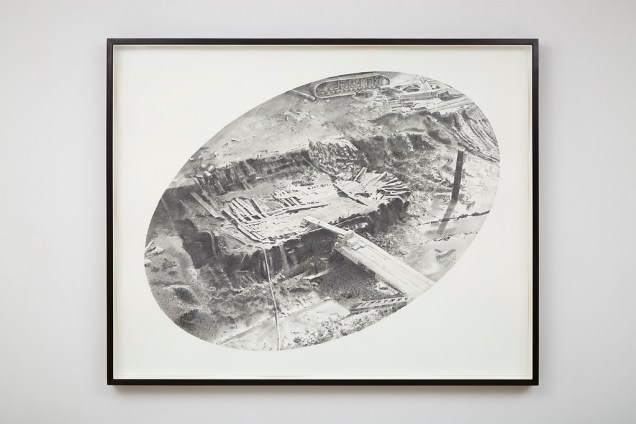 Hur Shan: Drawing Practice, #01-1 (The Ship from Ground Zero), 2015, graphite