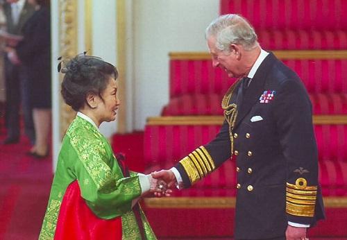 Sylvia Park MBE with HRH Prince Charles