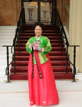 Sylvia Park with her MBE