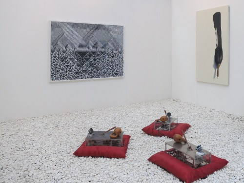 (In foreground) Kim Sang-jin: Meditation. At Hanmi Gallery