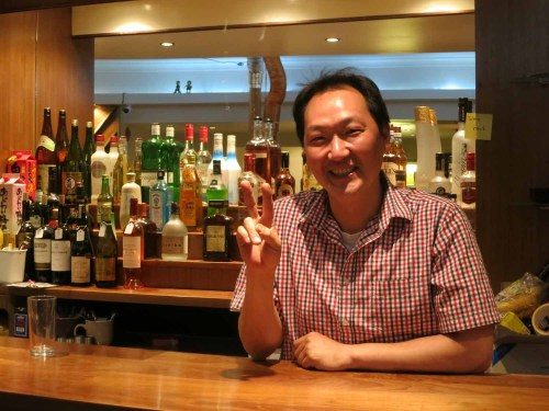 Chef Kim Jin-wook behind the bar