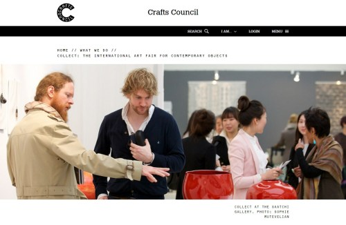 Collect website front page