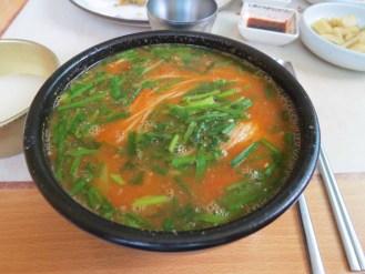Spicy fish noodle soup