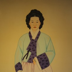 The portrait of Nongae inside her shrine, the Uigisa