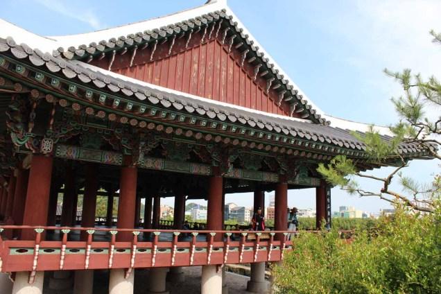 The elegant Chokseongnu Pavilion inside Jinju Fortress