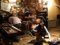 Vidulgi Ooyoo seting up at Strange Fruit, Hongdae, 29 May 2015