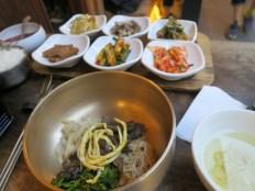 Vegetarian bibimbap, a speciality of 나물 먹는 곰 in Hongdae