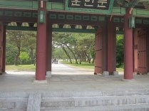 Like most of the Joseon royal tombs, King Sejong's is surrounded by pine trees